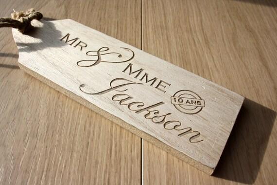 Petite Planche Cadeau Pour Couple Cadeau Pour Mari S Id E