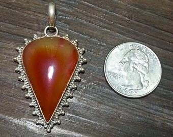 Sterling Silver Carnelian Pendant