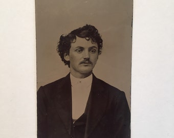 Tintype of a Dapper Gent, 19th Century Antique Photograph