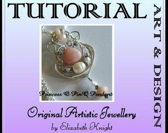 Princess of Pinq Pendant Wire Wrapping Step-by Step-Tutorial  INSTANT DOWNLOAD