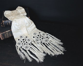Antique French First Communion Bow Armband.