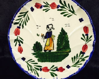 Blue Ridge Southern Pottery Plate - French Peasant Design