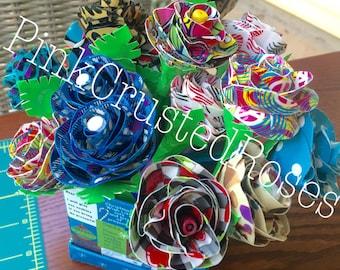Custom Duck Tape Flower Pens