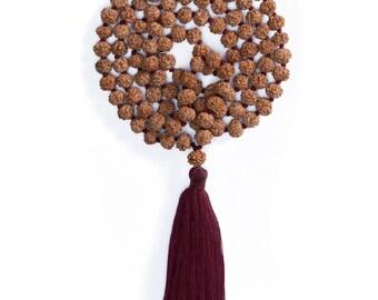 BASIC MALA/Rudraksha Beads/Prayer Beads/Rudraksha Mala/Yoga Mala/Yoga Jewelry/Tibetan Mala Beads/Japa Mala/Mala 108/Meditation Jewelry