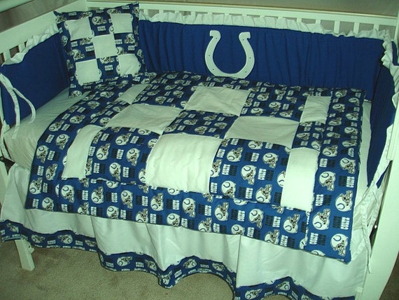 Colts crib bedding indianapolis colts crib nursery for Colts bedroom ideas