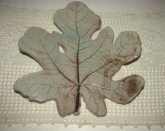 Large Ceramic Fig Leaf