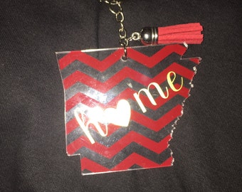 Arkansas Personalized Keychain