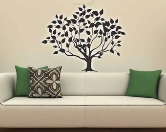 Tree Vinyl Wall Decal, Tree Sticker, Tree Wall Decals, Tree Wall Decoration, Tree Wall Art Choose Size and Color
