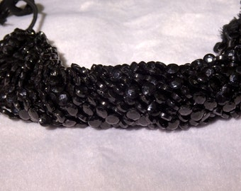Black Spinel Faceted Coins