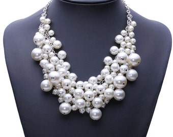 Pearl Bauble Statement Necklace