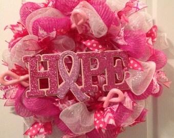 Breast Cancer Awareness Wreath
