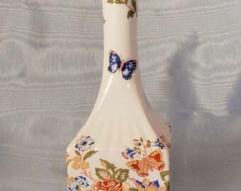 "Vintage Aynsley ""Cottage Garden"" bone china bud vase"