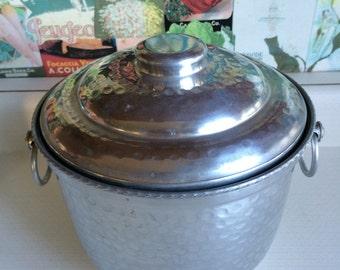 Aluminum Ice Bucket Vintage 1960's