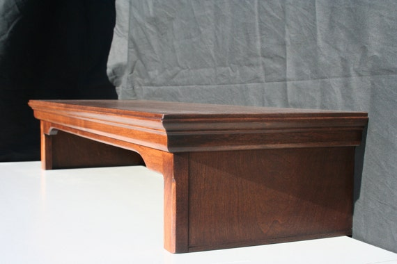 Tv riser stand intraditional style alder wood with mocha