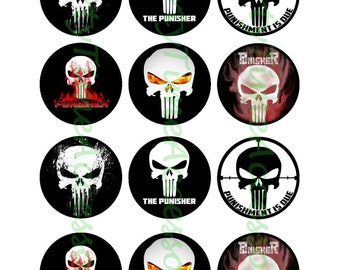 Vigilante the Punisher Edible Cupcake/Cookie Toppers for Birthday Party or other Special Occasion!