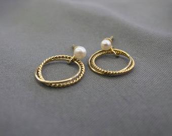 Double ring Earrings