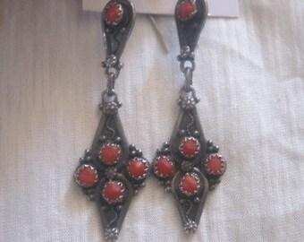 Earrings Berber silver metal, ethnic jewellery