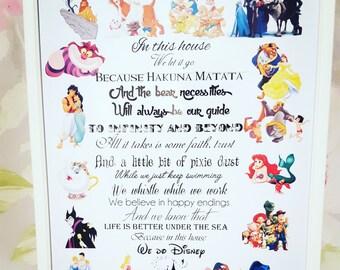We Do Disney print and frame