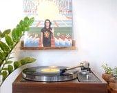 Imbuia Record de noyer brésilien Display / maintenant toupie / vinyle étagère / mur suspendu / fait main / « La tablillita »