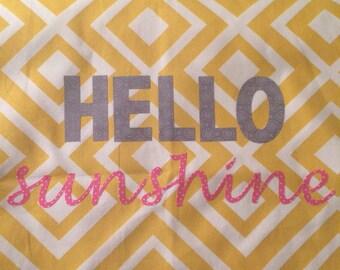 Hello Sunshine Pillow Cover