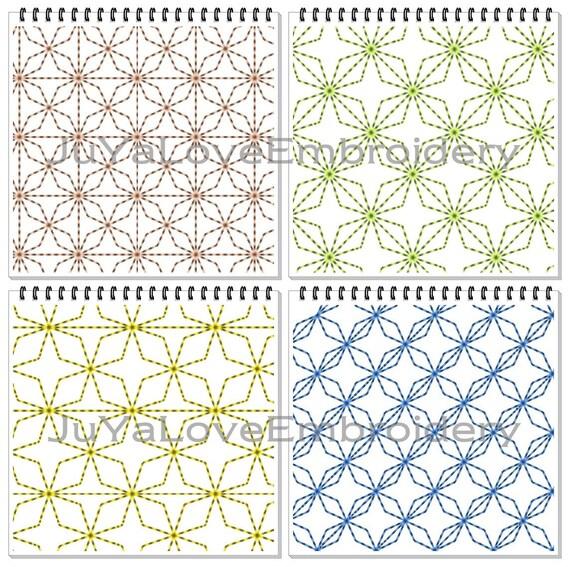 Sashiko Patterns Quilt blocks Quilting Four patterns : what is stippling in quilting - Adamdwight.com