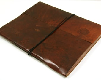Leather Journal, notebook or sketchbook. A6