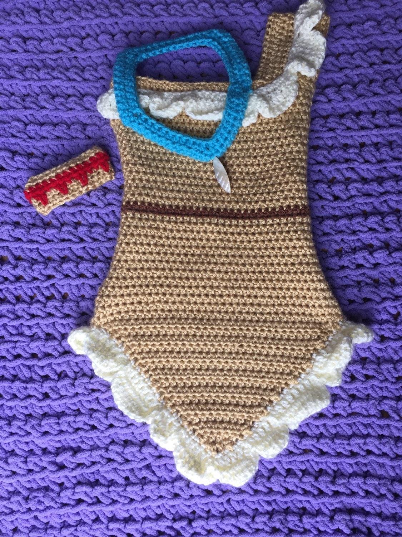 Pocahontas Dress Costume Photo Prop Crochet Baby Indian