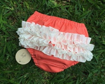 Diaper cover with ruffles
