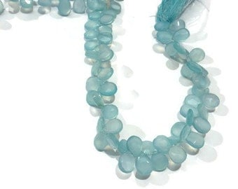 """Chalcedony peru faceted Pear shape 6x8mm , length in 8 """""""