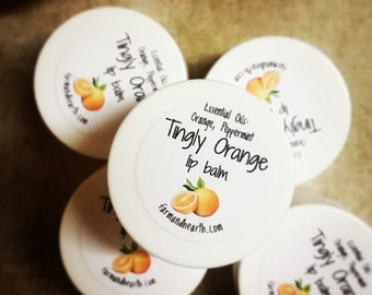 Tingly Orange Lip Balm .25 oz tub