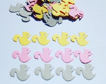 100 Squirrel Die Cut, Pink Paper SQUIRRELS, Paper confetti, Squirrels for scrapbooking, Party décor, Baby Shower Confetti.
