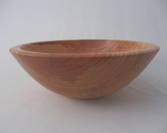 Large Wooden Salad Bowl Wood Fruit Bowl Cherry Hand Turned