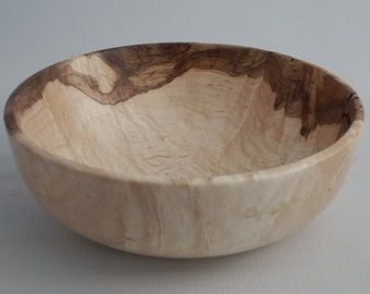 Hand Turned Decorative Wood Bowl Figured Maple