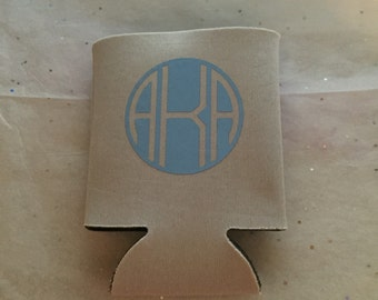 Monogramed Can Coozie