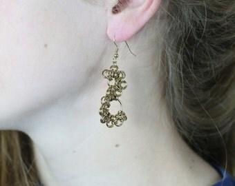 Chainmaile Earrings; Shenandoah pattern