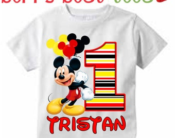 Mickey Mouse Personalized Birthday Shirt