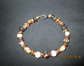 Handcrafted Mixed Bone Beaded Bracelet