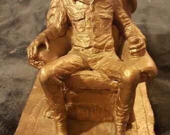 Chairman of the Range by Michael Garman Bronzetone Sculpture