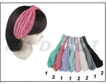 wholesale 12 pieces Twisted Headband,  Head Wrap, Women Headband, Fashion Knotted Headband,  Head cover, Turban Twisted Headband