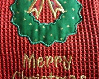Christmas Wreath with Merry Christmas