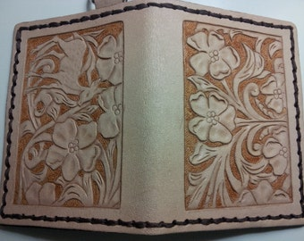 Hand Carved Leather ID Wallet
