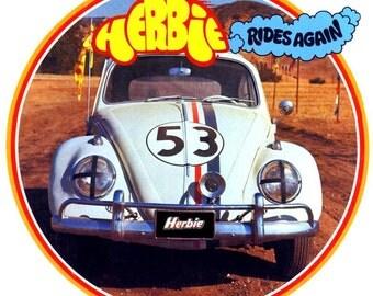 Herbie # 10  8 x 10 - T Shirt Iron On Transfer