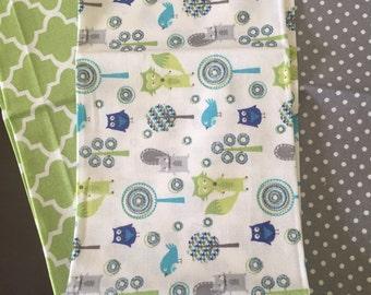 Forest Animal Burp Cloth Set