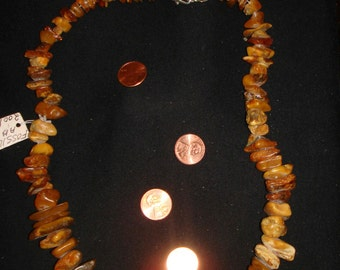 100,000,000 MILLION YEAR old amber necklace from Russia 30 inch