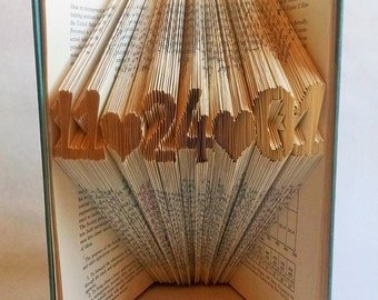 Personalized Wedding Gift - Wedding Date - Unique Gift - Folded Book Sculpture