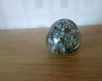 Multi coloured glass paperweight