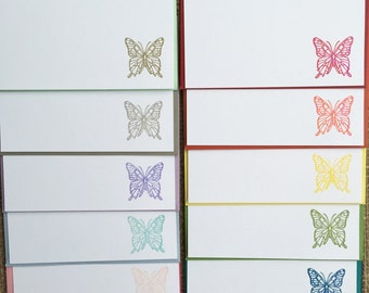 Butterfly Note Cards Set of Twelve