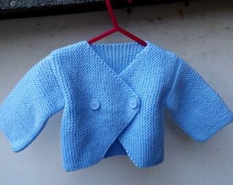 Knitting Baby Cardigan, Jacket Blue