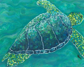 FREE SHIPPING! Sea Turtle Wood Art, 3-D and quite unique!