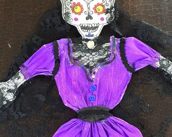 La Catrina in Lace - articulated paper doll